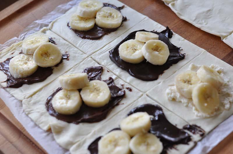 Rezept muffins banane nutella