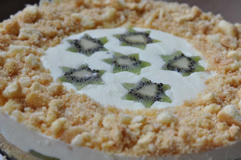 Leichte No Bake Kiwi Frischkase Torte Sandra S Backfabrik