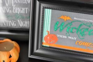 DIY Halloween Bilderrahmen