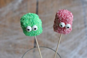 Fusselige Monster Pops