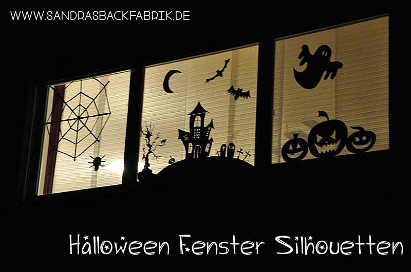 Halloween fenster silhouetten - Halloween fenster projektion ...