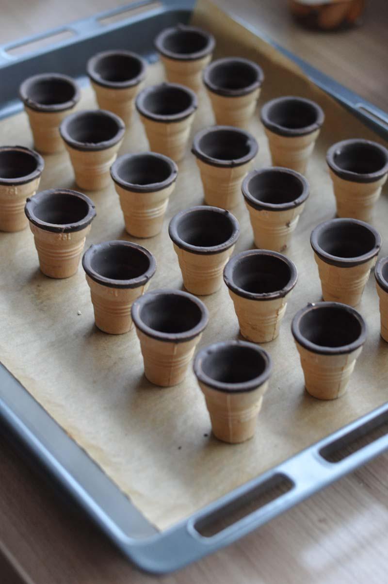 Kleine Kuchen Im Waffelbecher Www Sandrasbackfabrik De